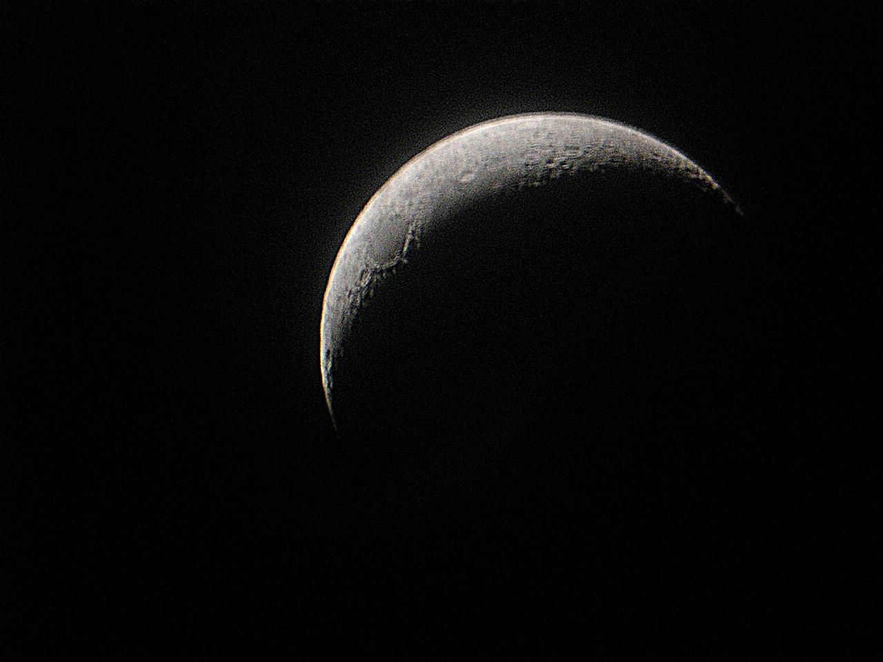 Mi primera Luna (procesada, con ruido)