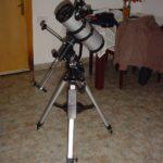 El telescopio por un lado